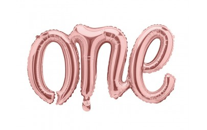 Balon foliowy One różowe złoto