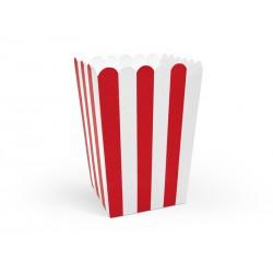 Pudełka na popcorn mix 7x7x12,5cm 6szt