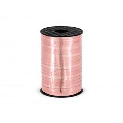 Wstążka plastikowa różowe złoto