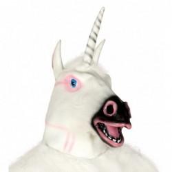 Maska lateksowa jednorożec