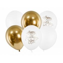 Balon 30cm Happy Birthday To You mix