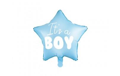 Balon foliowy Gwiazdka It's a boy jasny niebieski