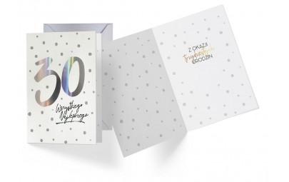 Kartka urodzinowa 30 lat holograficzna
