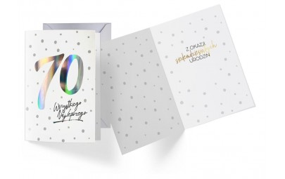 Kartka urodzinowa 70 lat holograficzna
