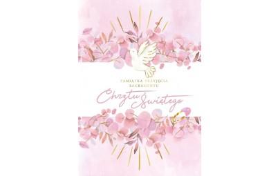 Pamiątka Chrztu Świętego książeczka różowa