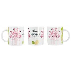 """Kubek ceramiczny """"Nas pięknych"""" flamingi"""