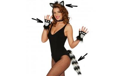 Zestaw Kotek czarno-biały...