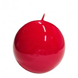 Świeca kula lakier czerwona 100mm