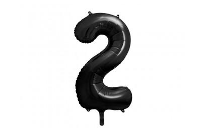 Balon foliowy cyfra 2 86cm czarny