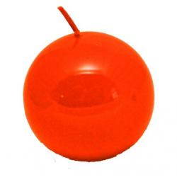 Świeca kula lakier pomarańcz 100mm