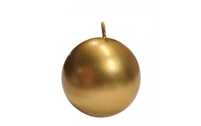 Świeca kula metalik złoty 100 mm