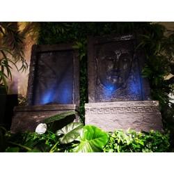Zdjęcie fontanna ściana budda 3