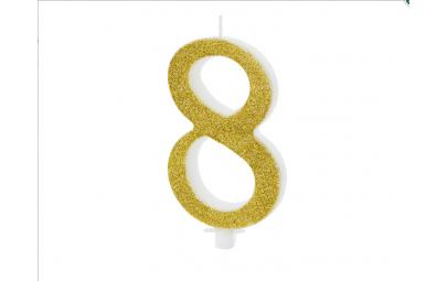 Świeczka urodzinowa cyfra 8...