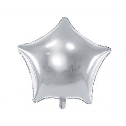 Balon foliowy 19 gwiazda srebrna