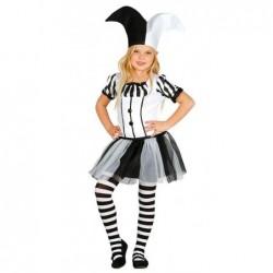 Strój dla dzieci Dziewczyna Błazen roz. dla 5-6latki (sukienka, czapka)