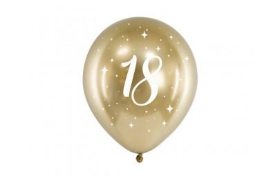 Balony Glossy 30cm 18 złoty...
