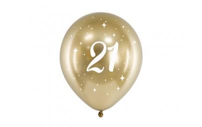Balony Glossy 30cm 21 złoty 6szt