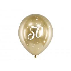 Balony Glossy 30cm 50 złoty 6szt