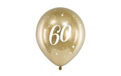 Balony Glossy 30cm 60 złoty 6szt