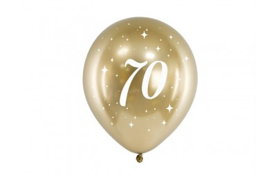 Balony Glossy 30cm 70 zloty 6szt