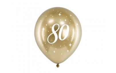 Balony Glossy 30cm 80 złoty 6szt