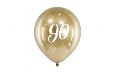 Balony Glossy 30cm 90 złoty 6szt