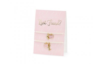 Kartka z bransoletkami Best Friends 10,5x14,8cm