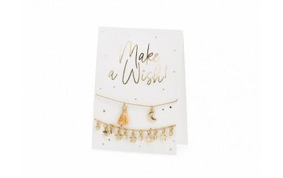 Kartka z bransoletkami Make a wish! 10,5x14,8cm