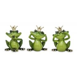 Figurka żaba z koroną 12x10cm