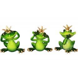 Figurka żaba z koroną 8,5x8cm