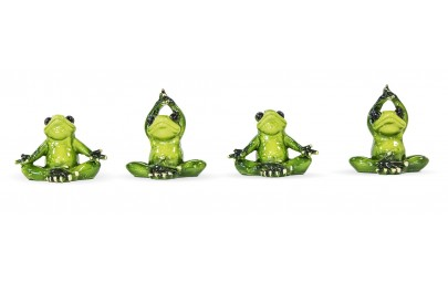 Figurka żaba joga 6-8x8x4,5cm