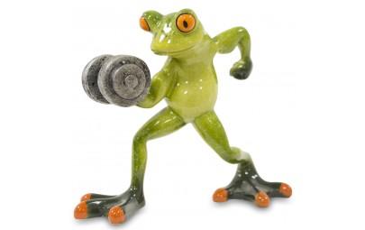 Figurka żaba z ciężarkiem 12,5x14,5x5,5cm