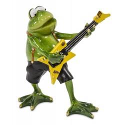 Figurka żaba z gitarą 16x15x8cm