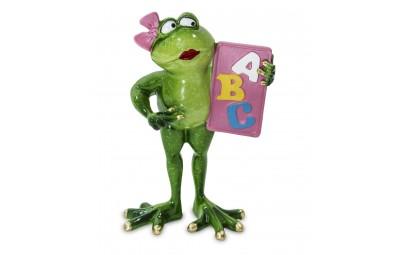 Figurka żaba z alfabetem 18x11x6cm