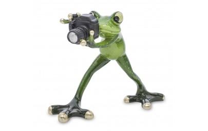 Figurka żaba fotograf 12x15x7cm