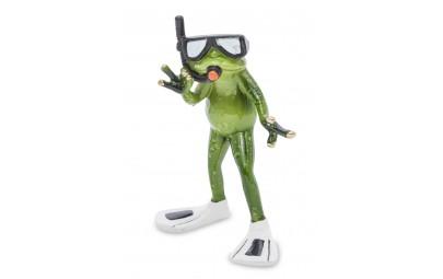 Figurka żaba płetwonurek 15x11x5cm
