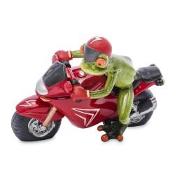 Figurka żaba na motorze 12x18x12