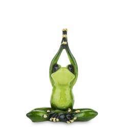 Figurka żaba joga 12,5x10x5cm