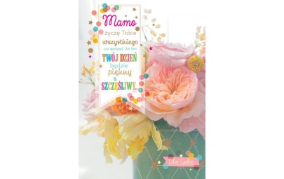 Kartka na Dzien Matki kwiaty