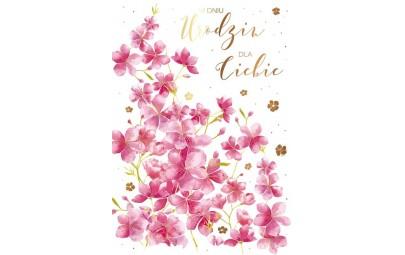 Kartka urodzinowa Kwiaty wiśni