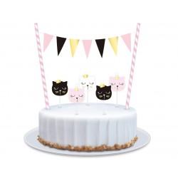 Dekoracja na tort Kotek...