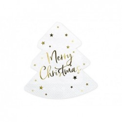 Serwetka choinka Merry Christmas 16x16,5cm 20szt