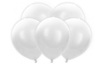 Balony 30cm led biały 5szt