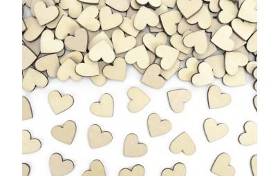 Konfetti drewniane serca...
