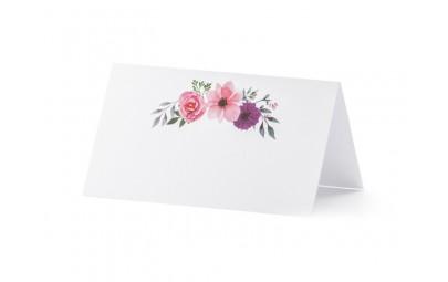 Wizytówka na stół -Kwiaty...