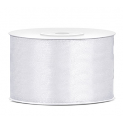 Taśma satynowa biała 38mm x 25m