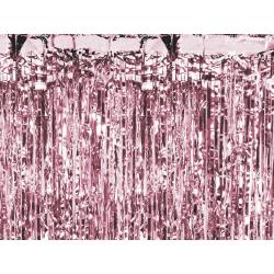 Kurtyna party różowe złoto 90x250cm