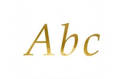 Litery złote naklejki