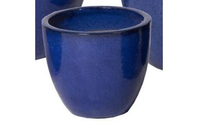 Donica Glazed Egg Pot niebieska D23/H19