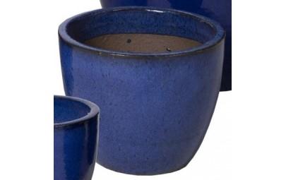 Donica Glazed Egg Pot niebieska D31/H25